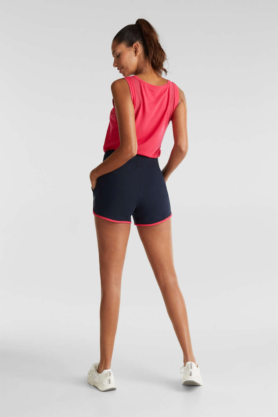 Contrasting jersey shorts, NAVY 2, detail image number 3