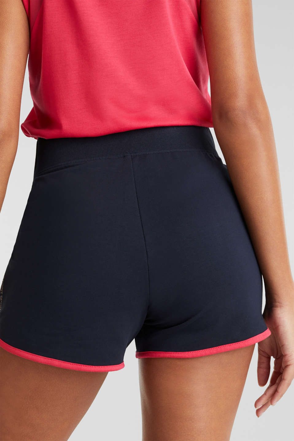 Contrasting jersey shorts, NAVY 2, detail image number 5