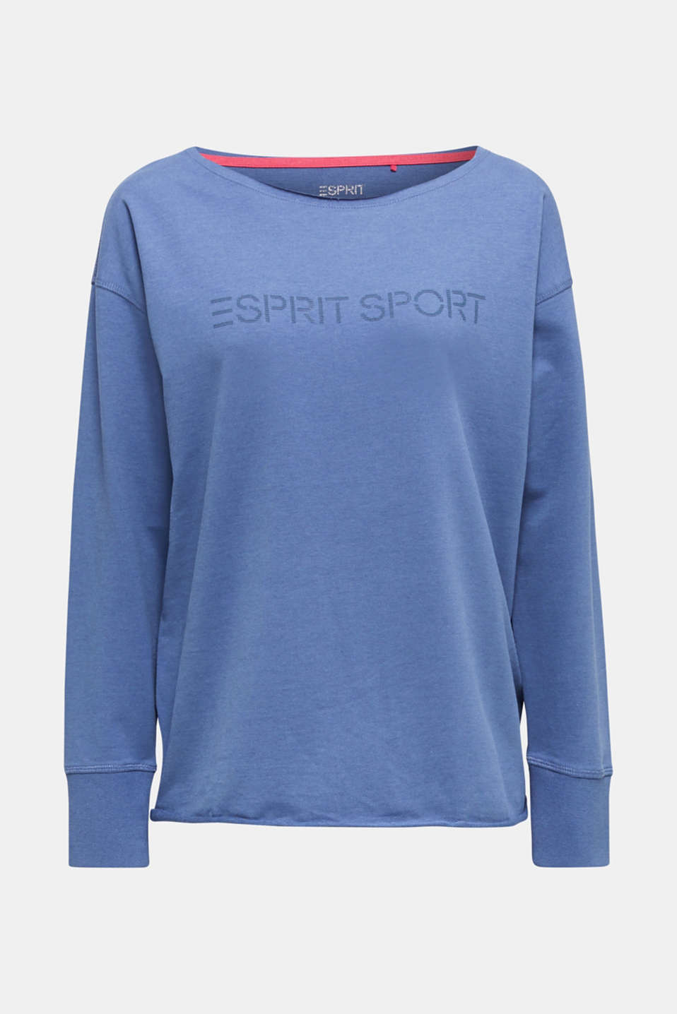 Sweatshirt with a logo print, GREY BLUE, detail image number 6