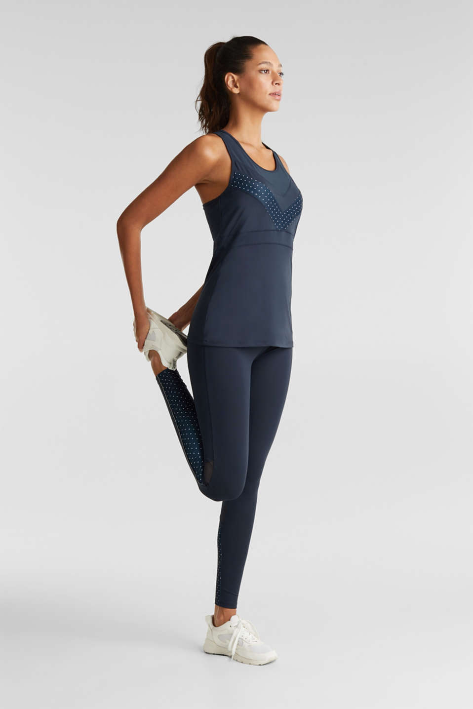 Top with mesh details, E-DRY, NAVY 2, detail image number 1