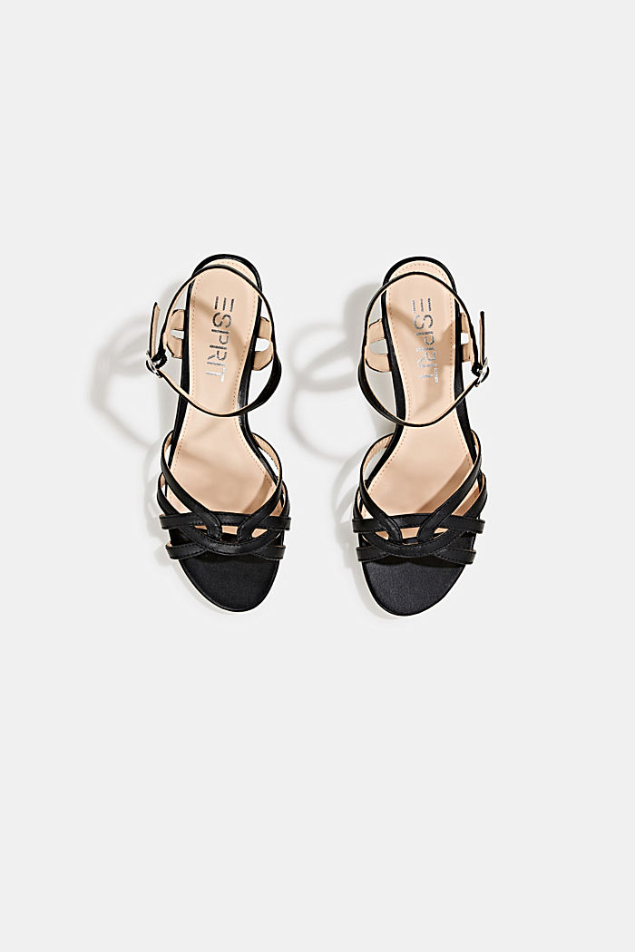 Sandals with straps in a braided look, BLACK, detail image number 1