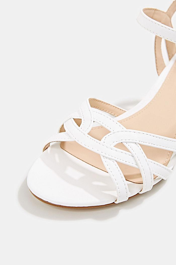 Sandalette mit Riemen in Flecht-Optik, WHITE, detail image number 4
