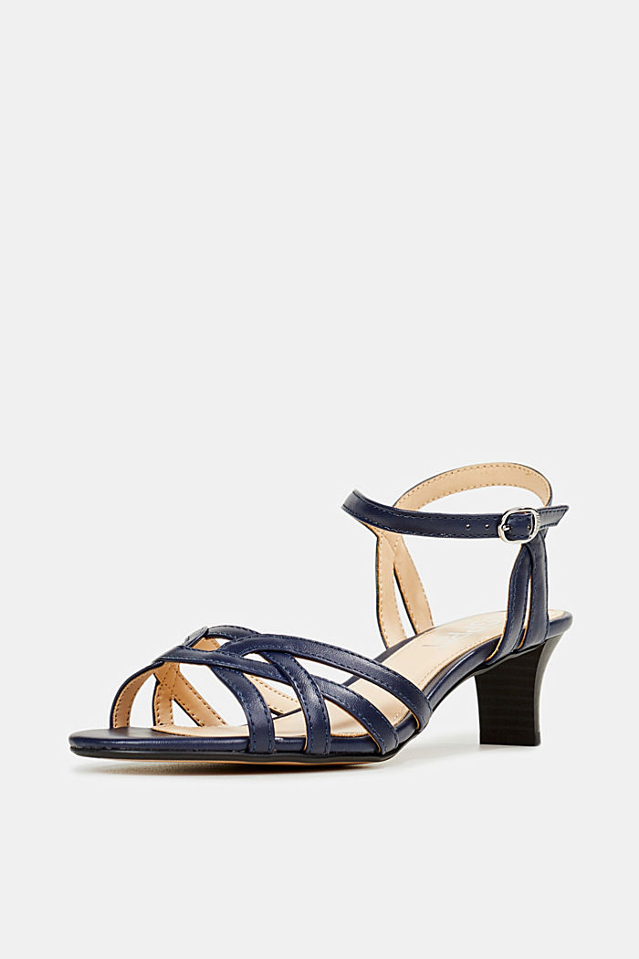 Sandals with straps in a braided look, NAVY, detail image number 2