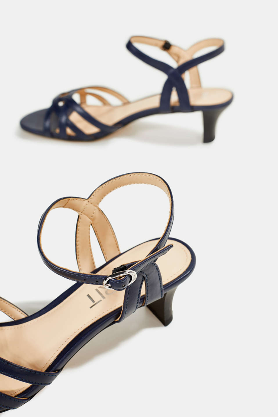 Sandals with straps in a braided look, NAVY, detail image number 5