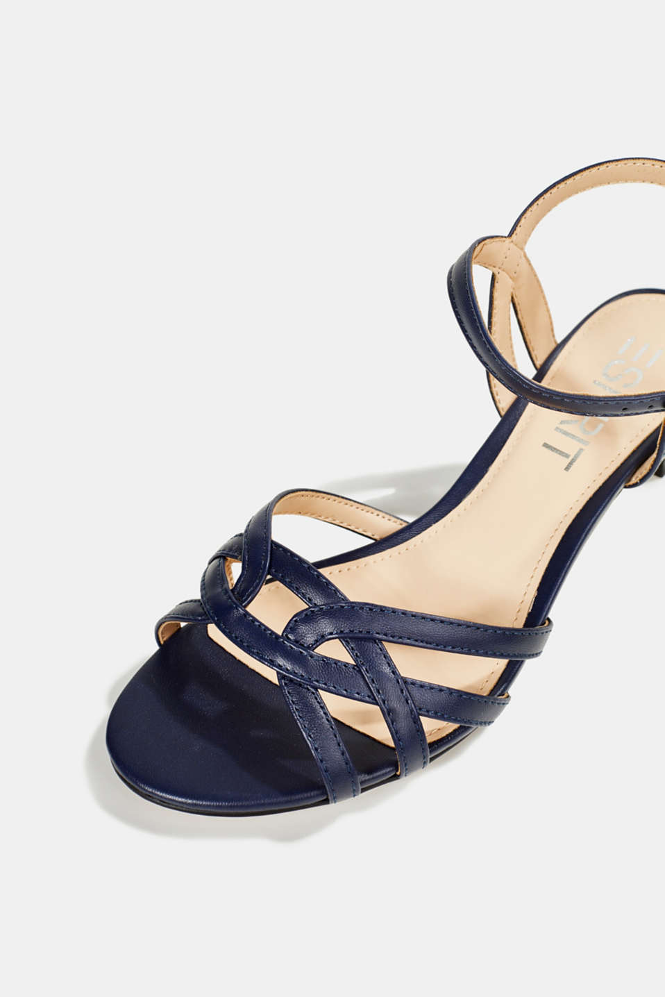 Sandals with straps in a braided look, NAVY, detail image number 4