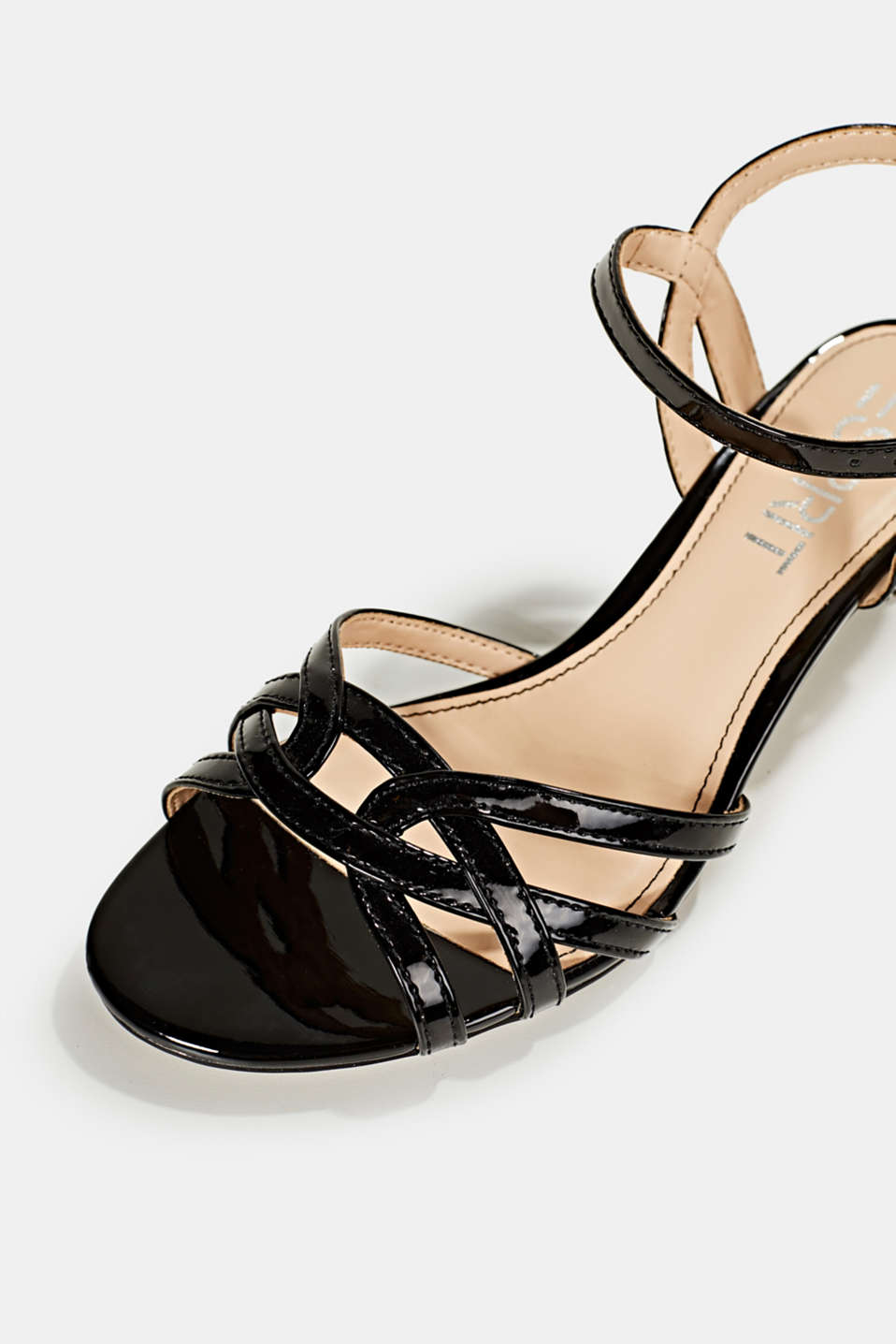 Sandals with straps in a braided look, BLACK, detail image number 3