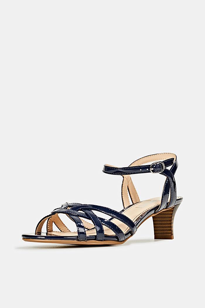 Sandalette mit Riemen in Flecht-Optik, NAVY, detail image number 2
