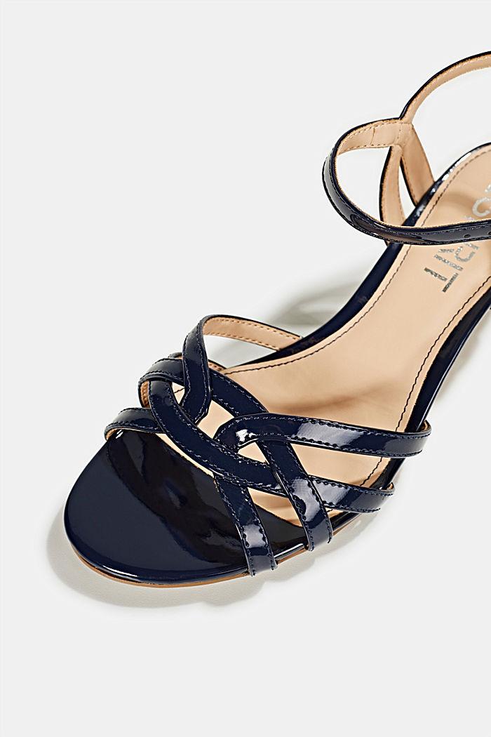 Sandalette mit Riemen in Flecht-Optik, NAVY, detail image number 4