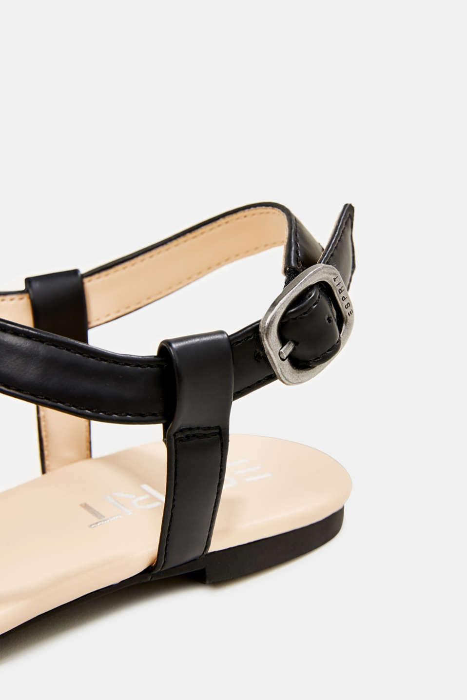 Faux leather sandals, BLACK, detail image number 5
