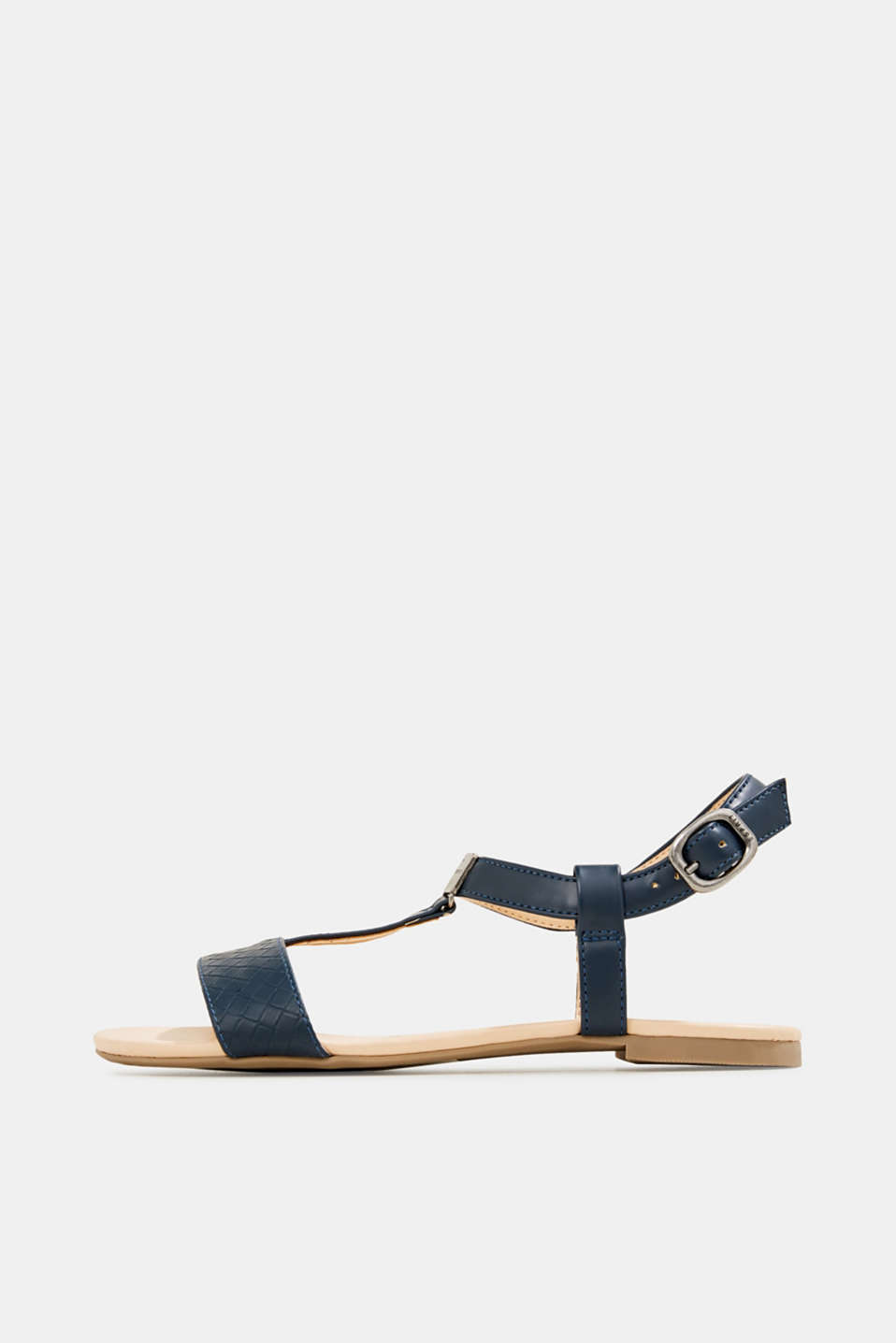 Faux leather sandals, NAVY, detail image number 0