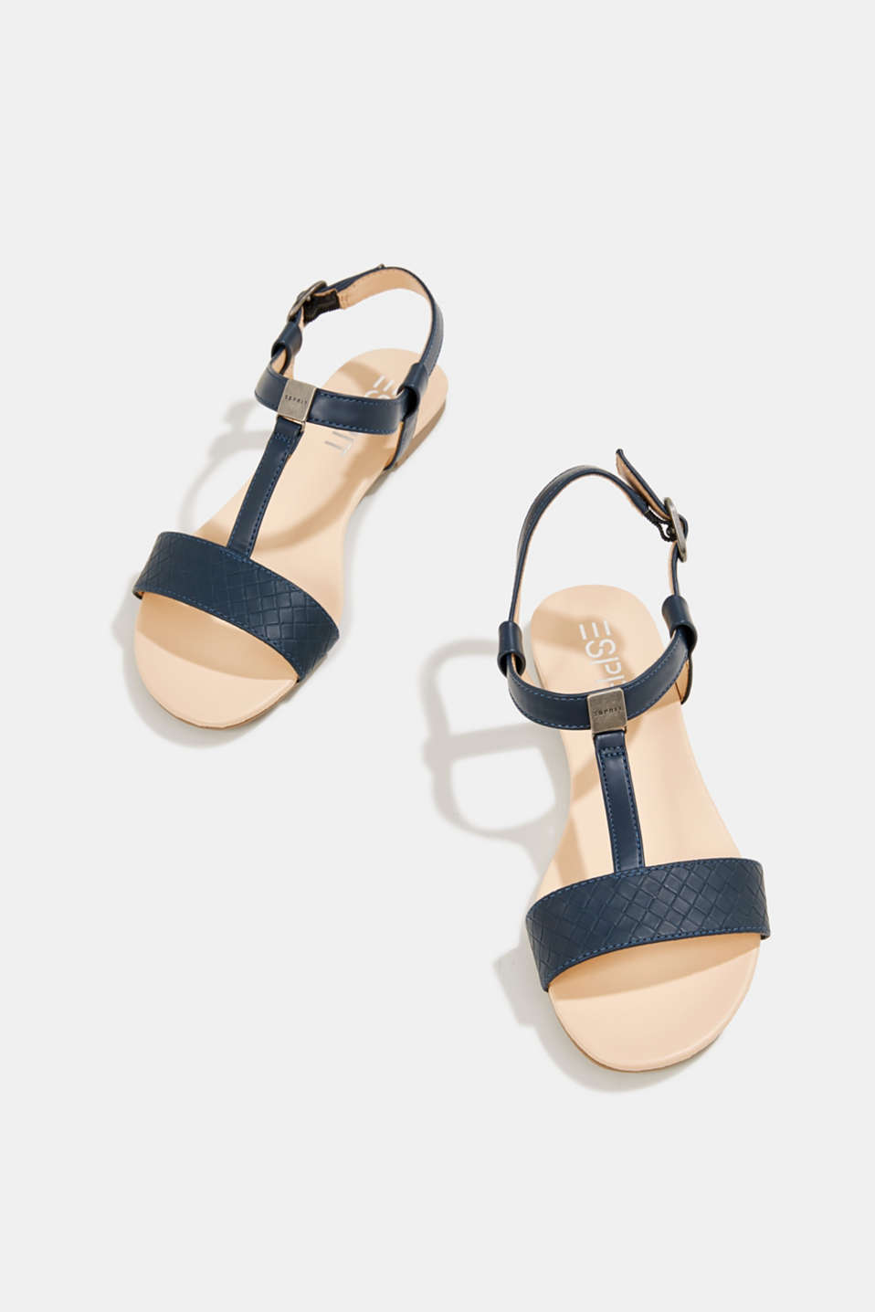 Faux leather sandals, NAVY, detail image number 1