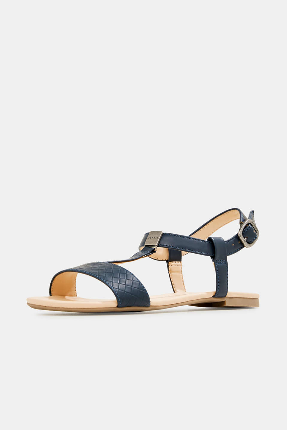 Faux leather sandals, NAVY, detail image number 2