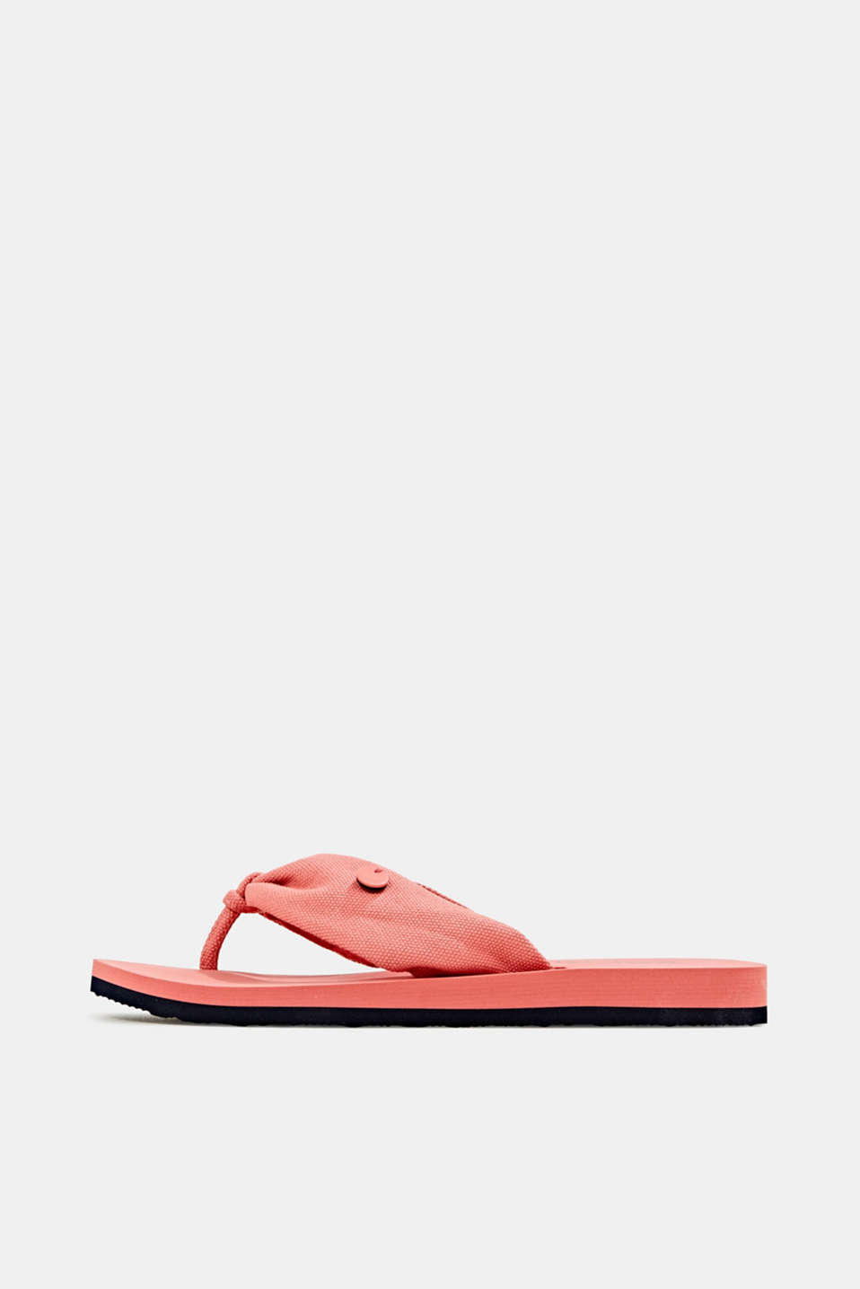 Esprit - Thong sandals with floral print