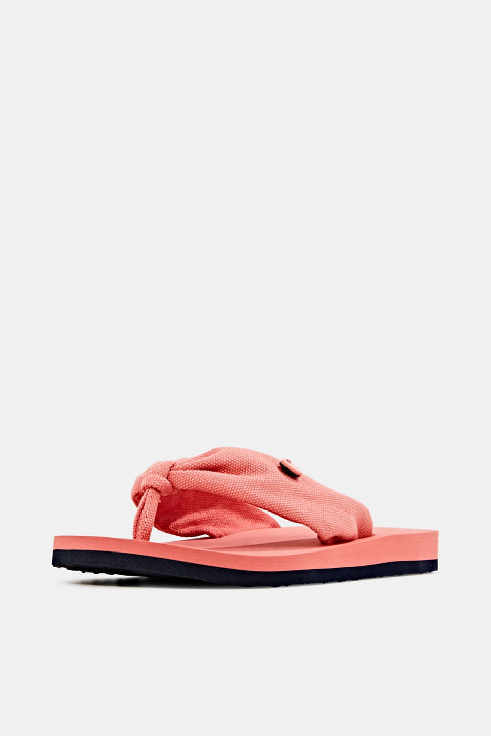 Thong sandals with floral print, CORAL, detail image number 2