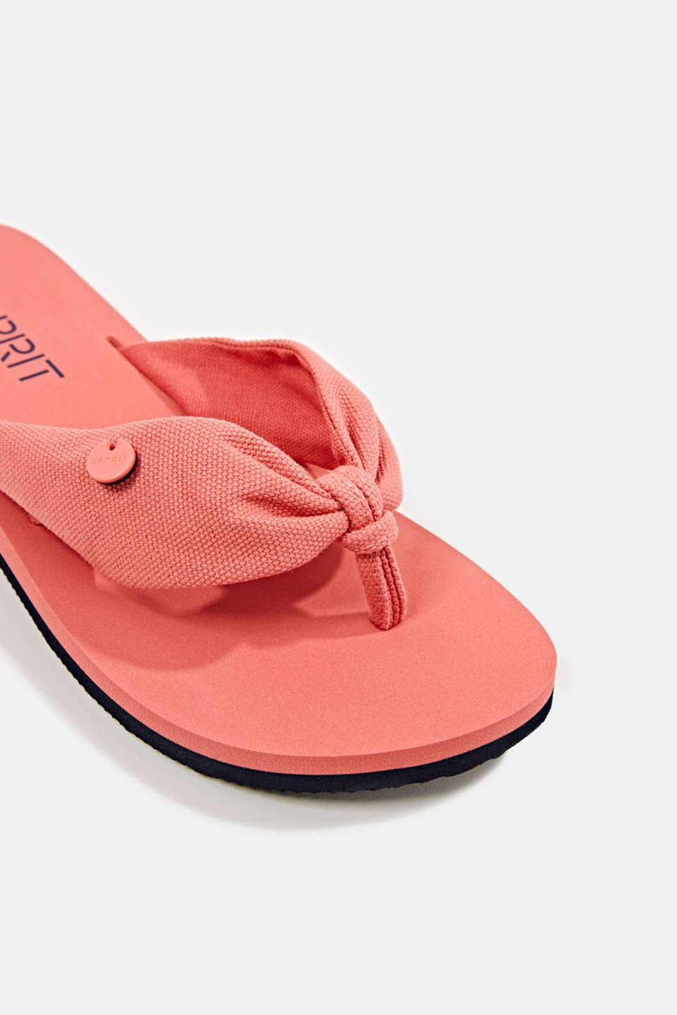 Thong sandals with floral print, CORAL, detail image number 3