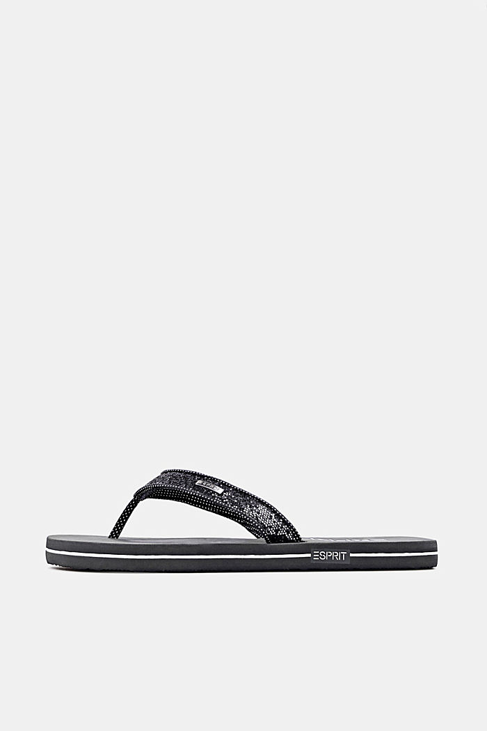 Slip slops with glittery straps