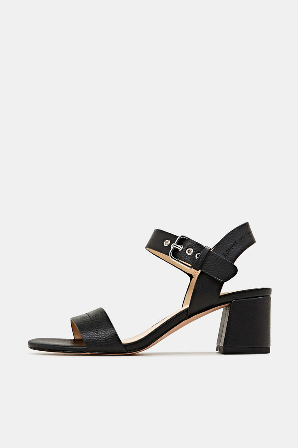 Sandal with block heel, BLACK, detail image number 0