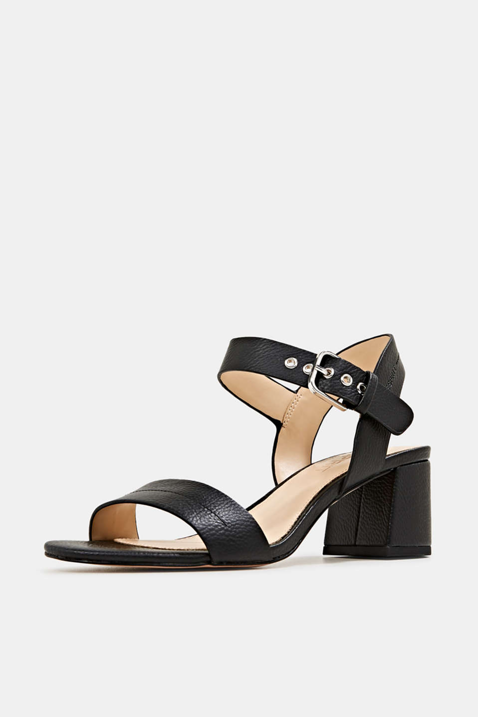 Sandal with block heel, BLACK, detail image number 1