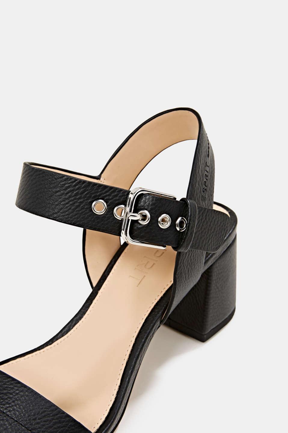 Sandal with block heel, BLACK, detail image number 5