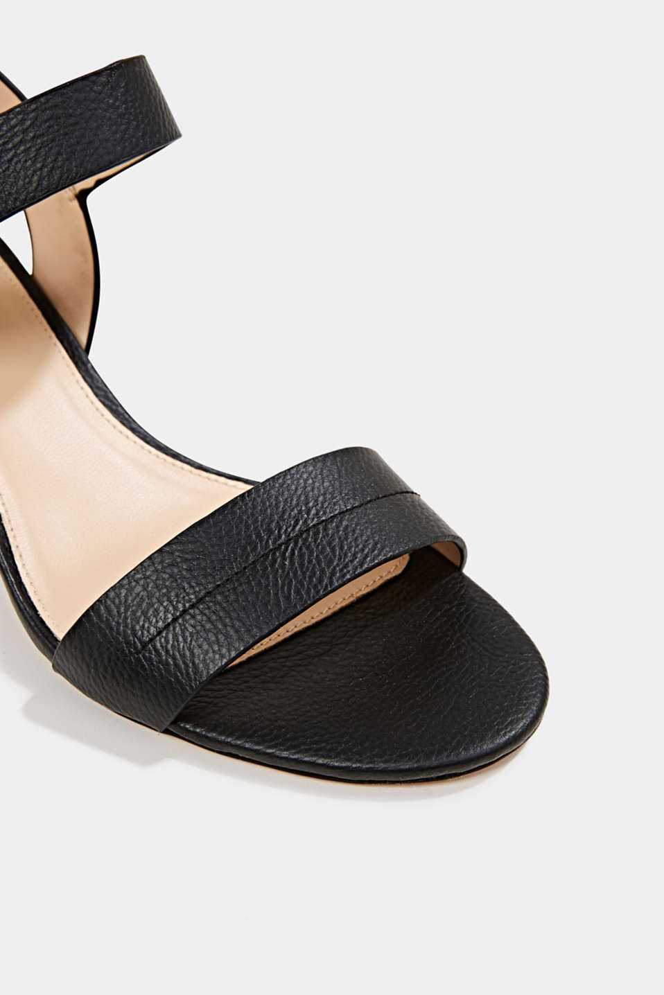 Sandal with block heel, BLACK, detail image number 3