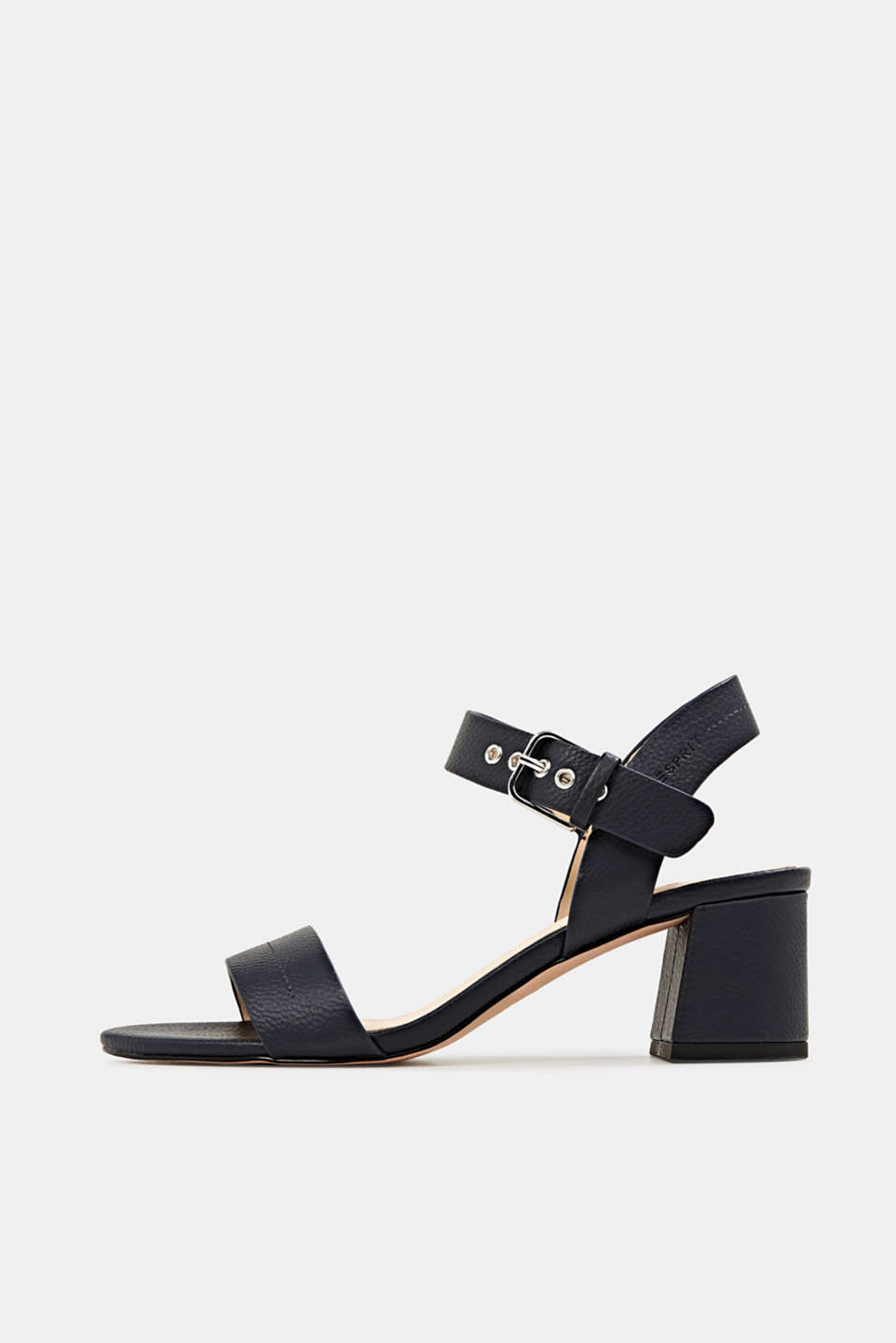 Sandal with block heel, NAVY, detail image number 0