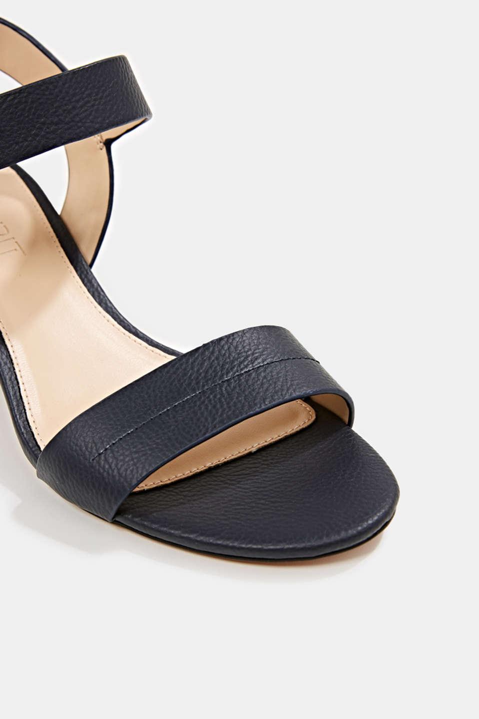 Sandal with block heel, NAVY, detail image number 3