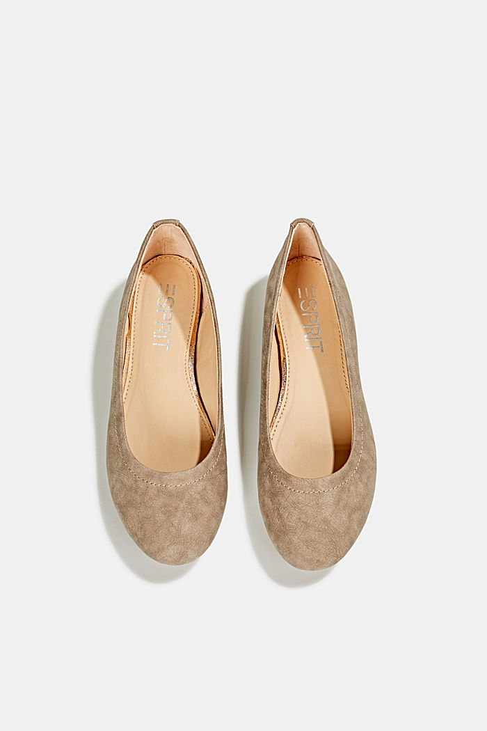 Ballerinas with stud details, TAUPE, detail image number 1
