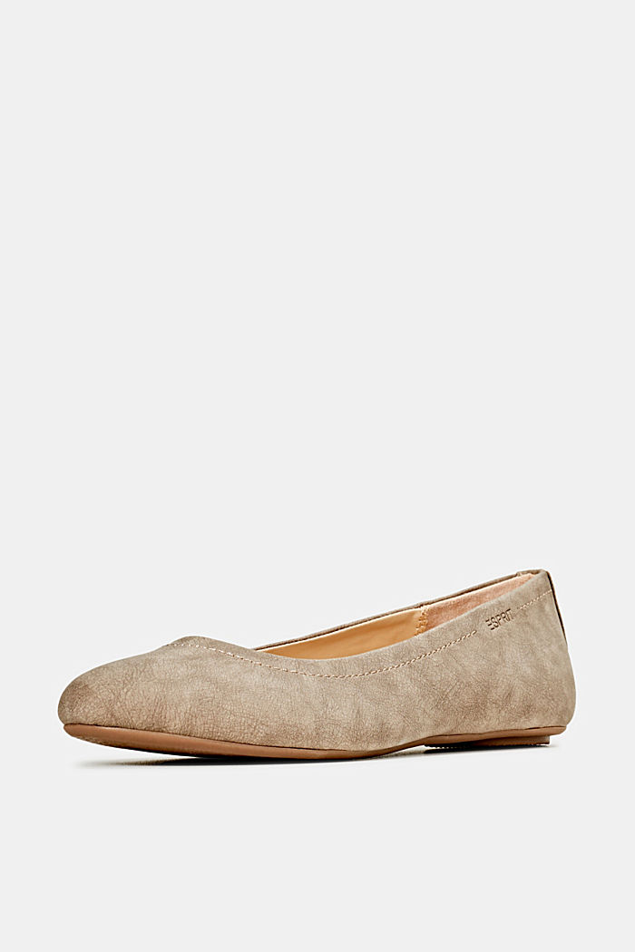 Ballerinas with stud details, TAUPE, detail image number 2