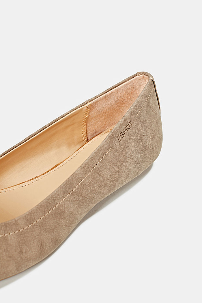 Ballerinas with stud details, TAUPE, detail image number 4