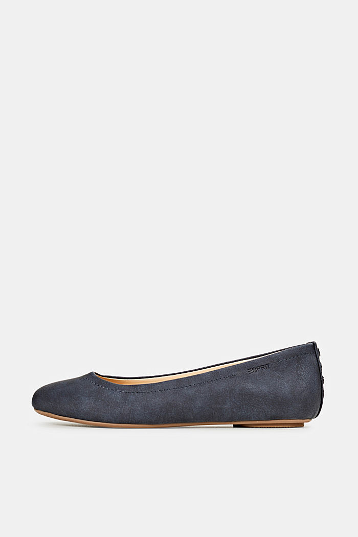 Ballerinas with stud details, NAVY, detail image number 0