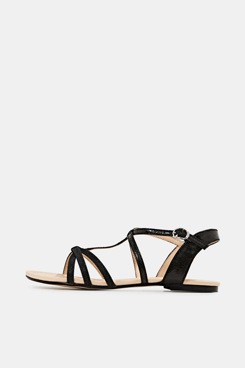 Esprit - Sandals with glitter, in faux leather