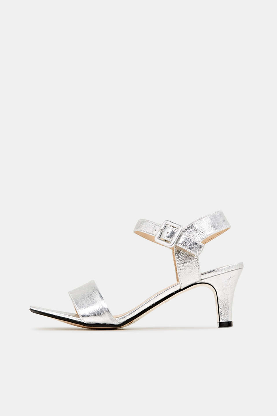 Esprit - Sandalen in gecrashte metallic look