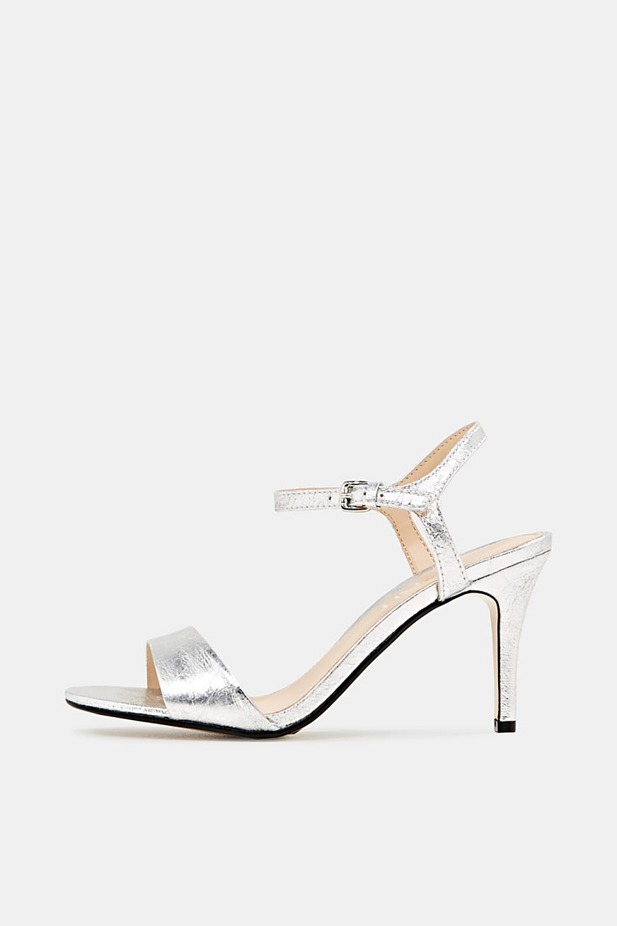 Sandalen in gecrashte metallic look