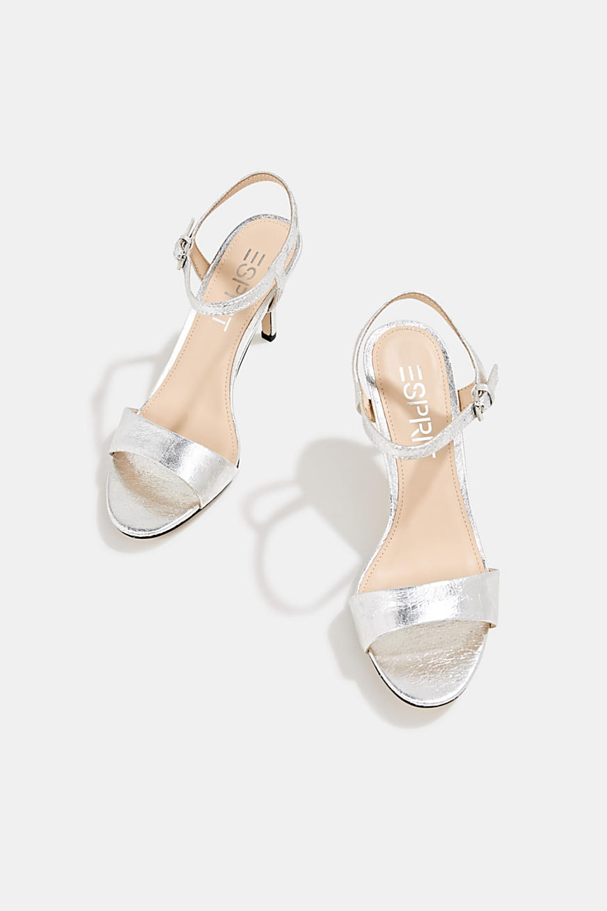 Sandalette im Metallic-Crash-Look