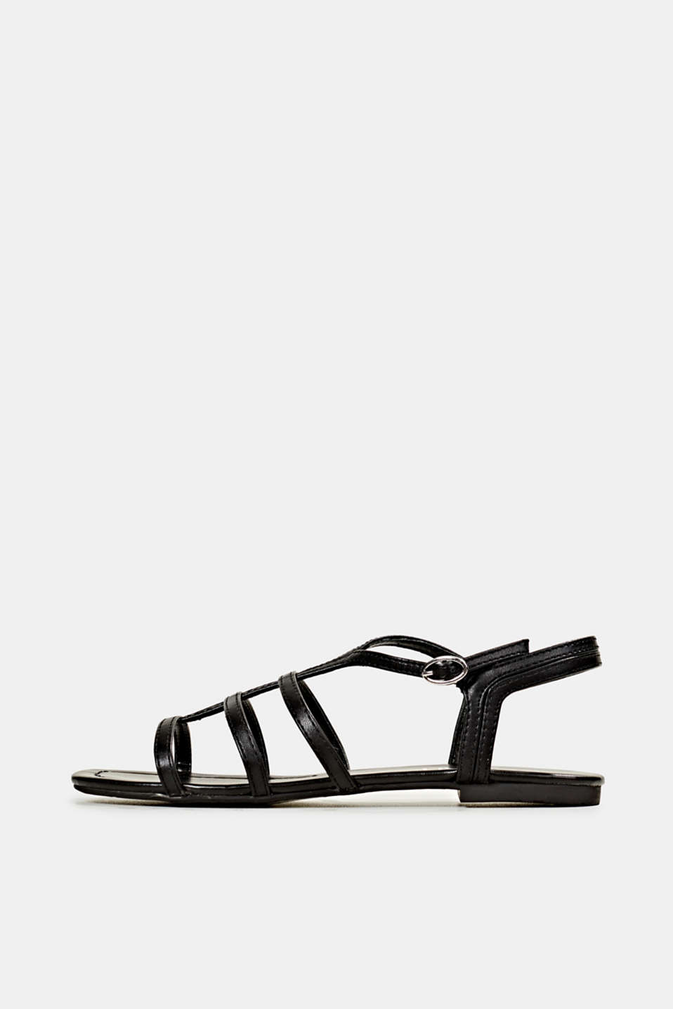 Esprit - Sandalen in leerlook
