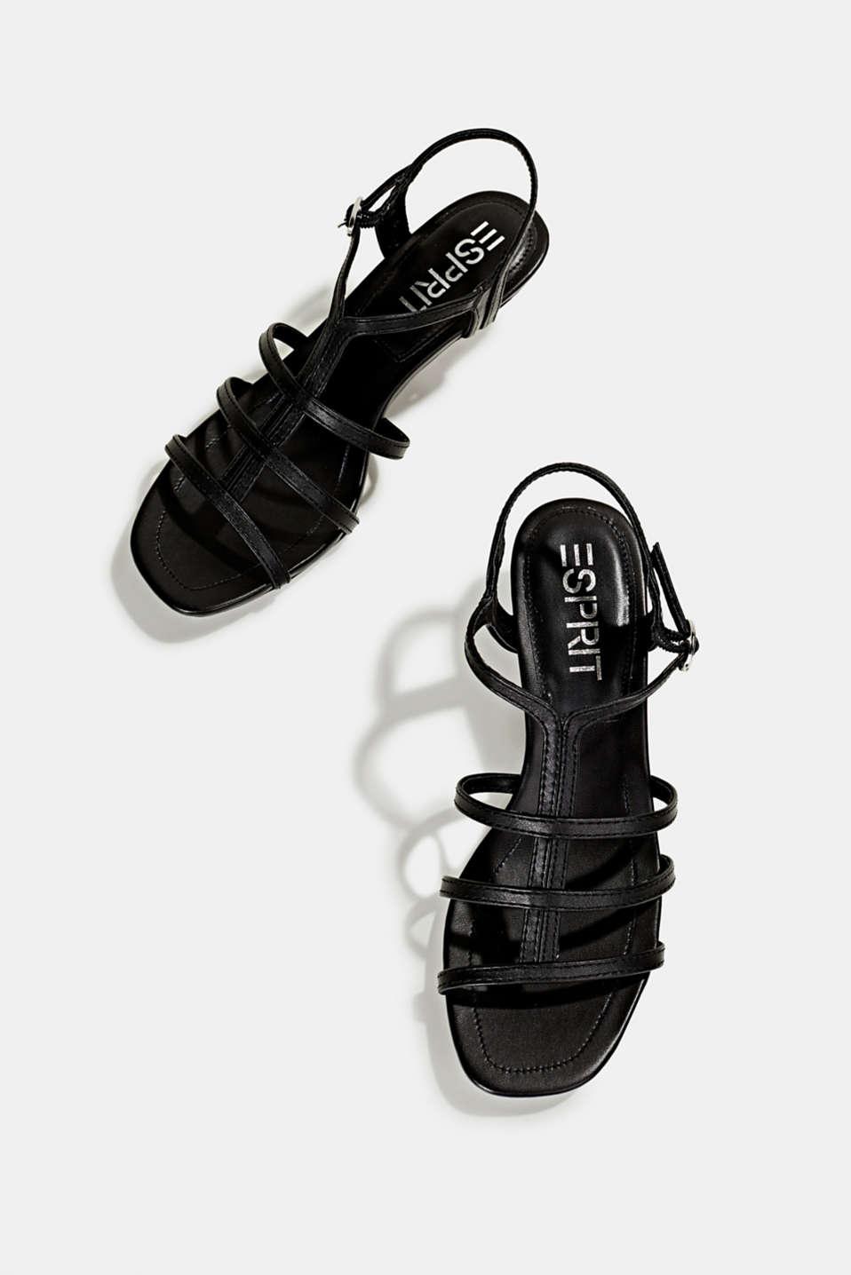 Faux leather sandal, BLACK, detail image number 1