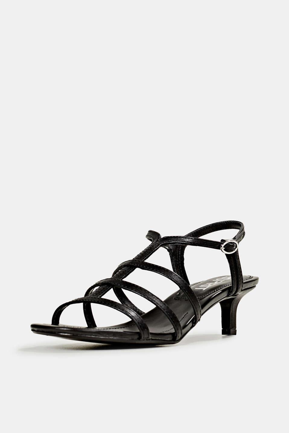 Faux leather sandal, BLACK, detail image number 2