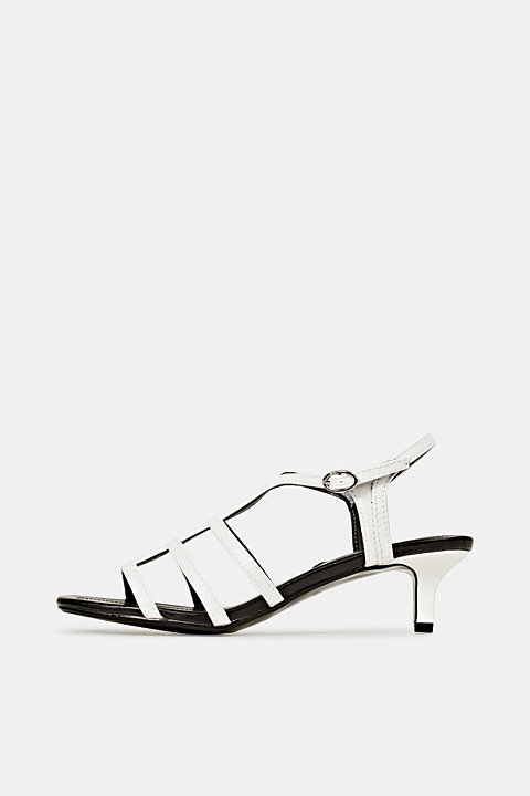 Faux leather sandal