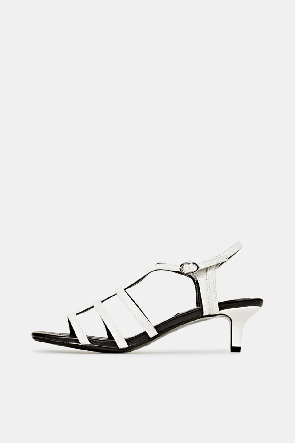 Faux leather sandal, WHITE, detail image number 0