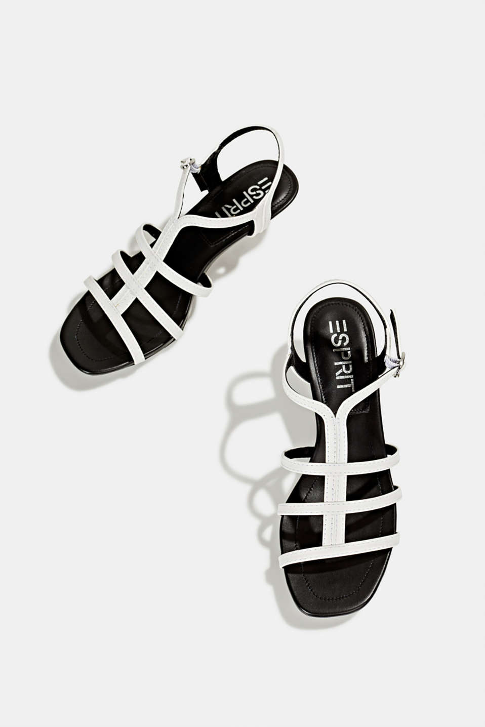 Faux leather sandal, WHITE, detail image number 1