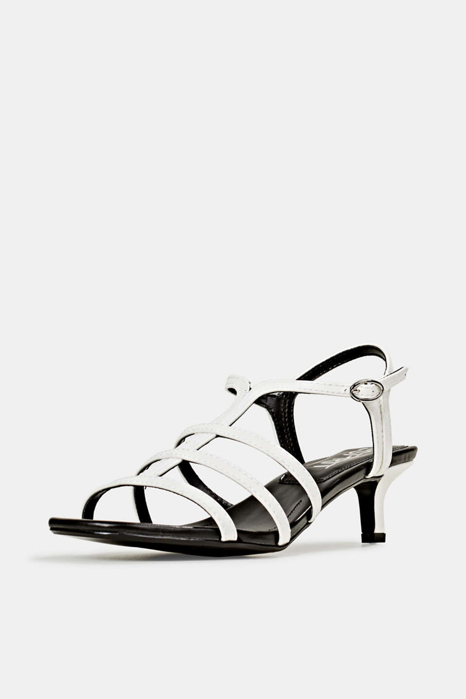 Faux leather sandal, WHITE, detail image number 2