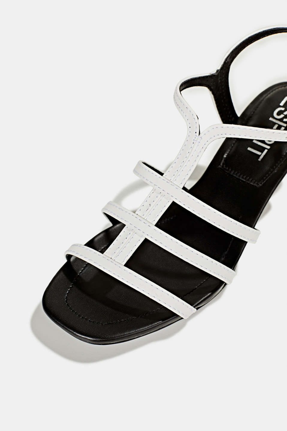 Faux leather sandal, WHITE, detail image number 4