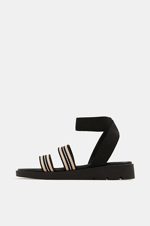 Sandals with a platform sole