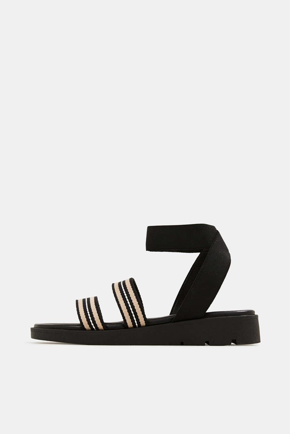 Sandals with a platform sole, BLACK, detail image number 0