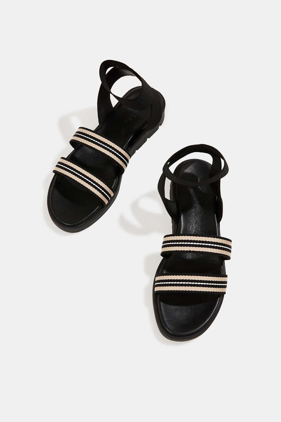 Sandals with a platform sole, BLACK, detail image number 1