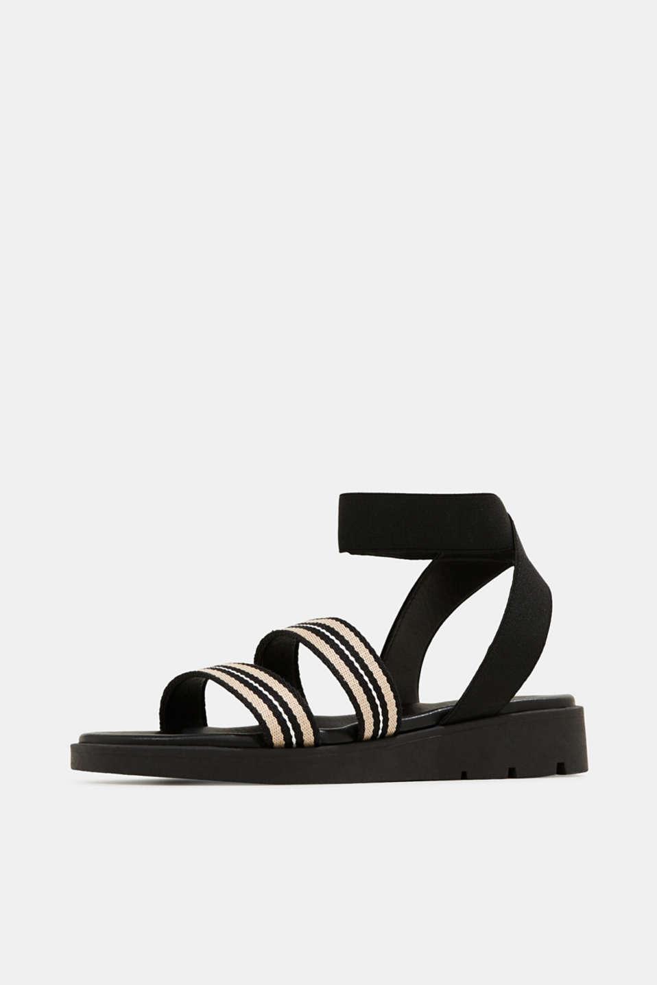 Sandals with a platform sole, BLACK, detail image number 2