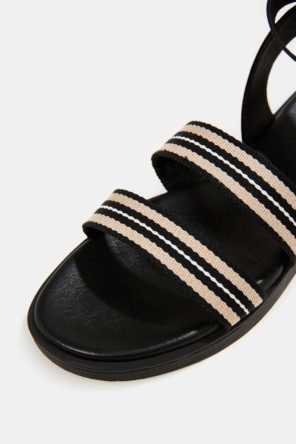 Sandals with a platform sole, BLACK, detail image number 4