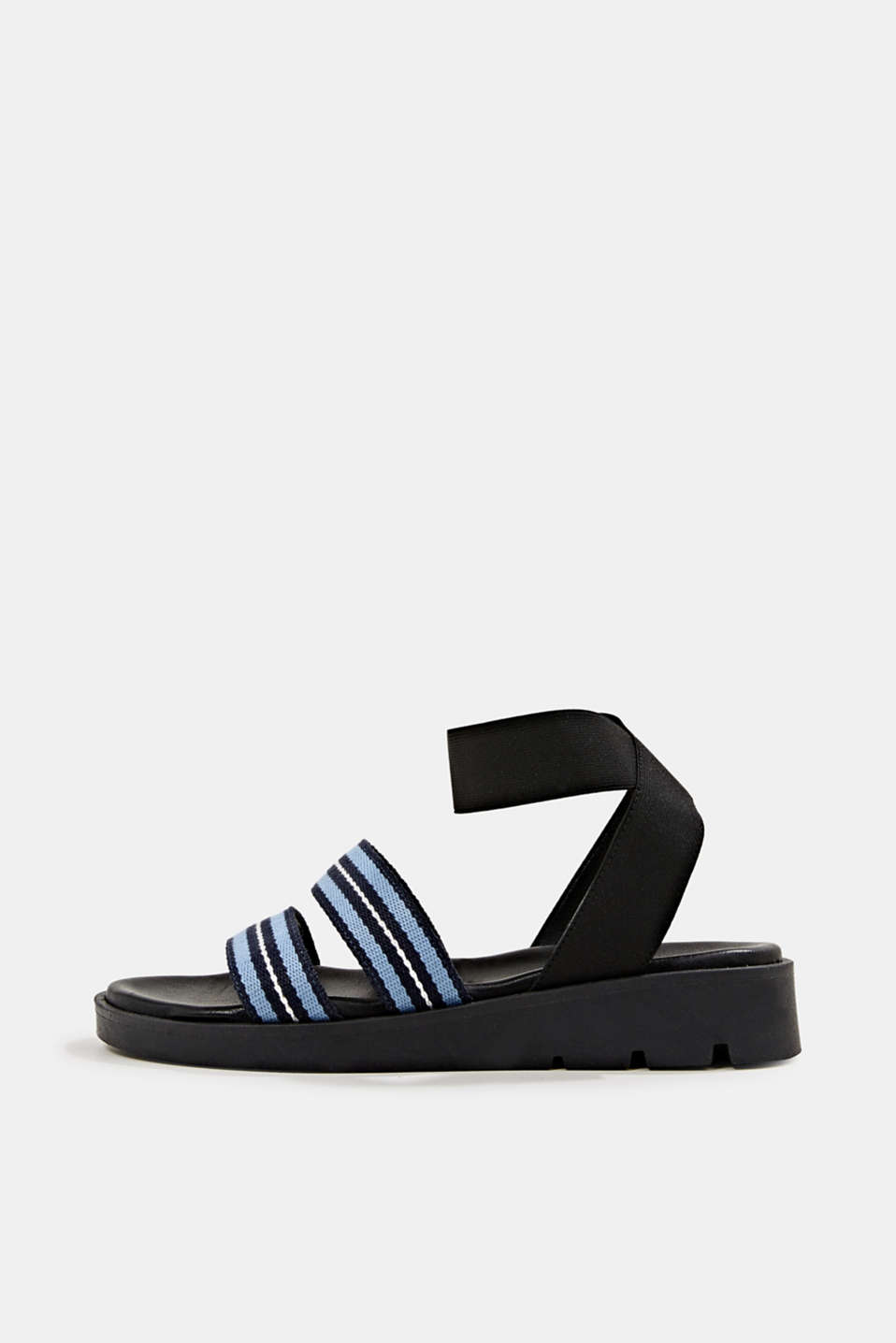 Sandals with a platform sole, NAVY, detail image number 0