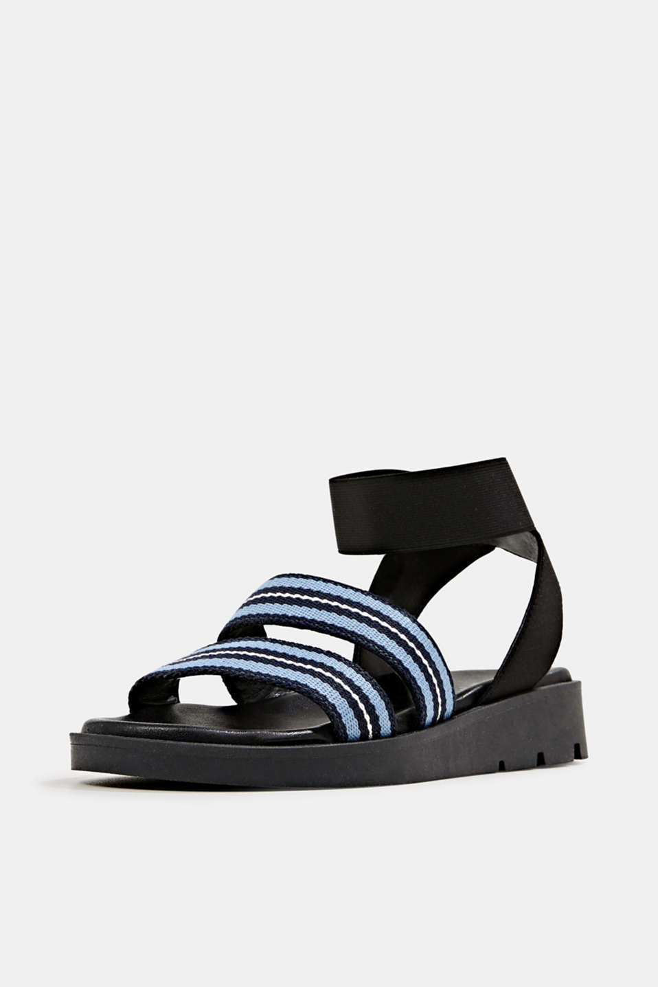 Sandals with a platform sole, NAVY, detail image number 2