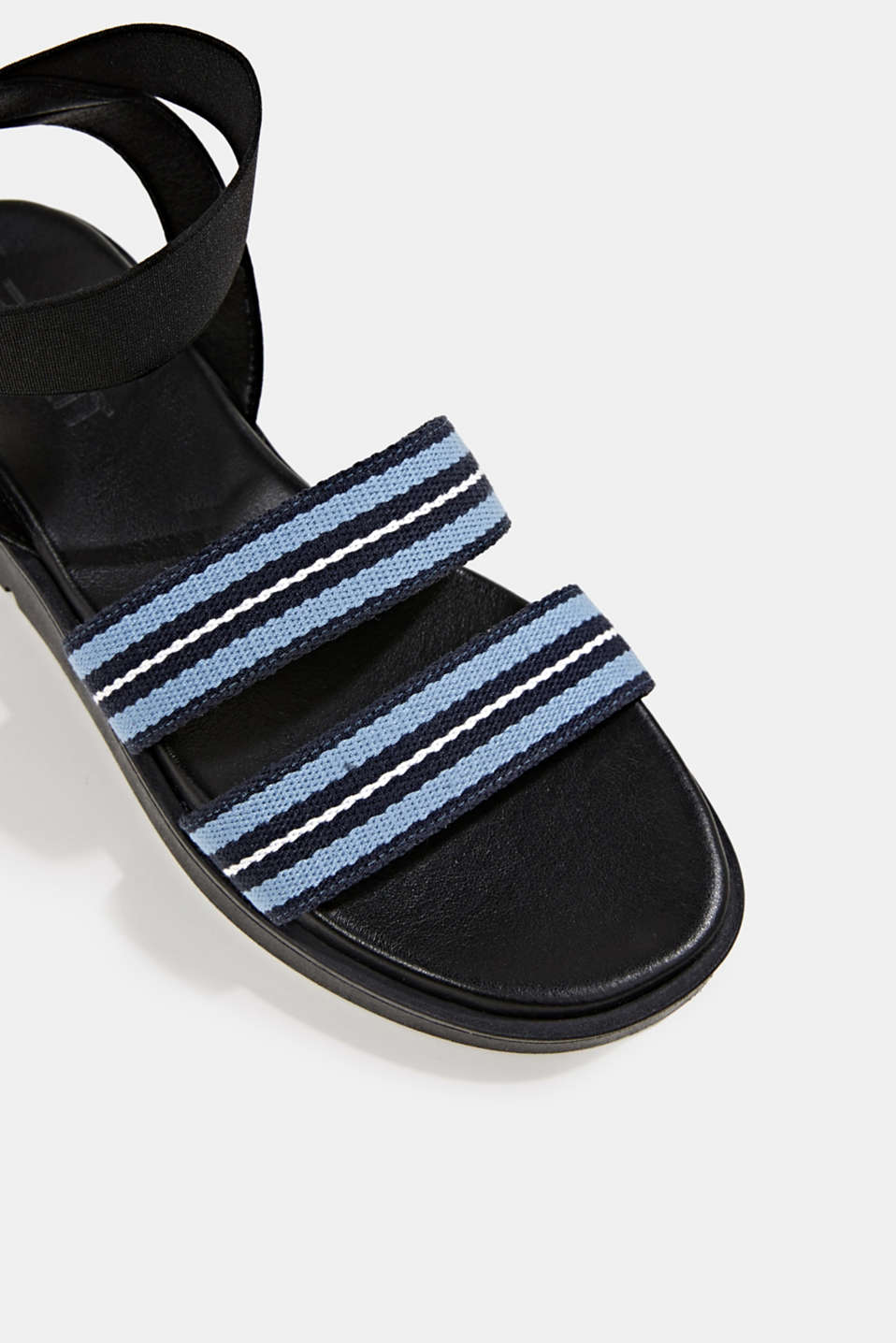 Sandals with a platform sole, NAVY, detail image number 4